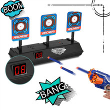 Electronic Digital Target for Nerf Guns N-Strike Elite/Mega/Rival Series - Auto-Reset Intelligent Light Sound Effect Scoring A1