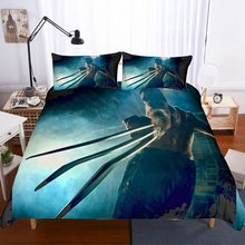 Wolverine Blue Boys Duvet Cover Set Arthas Menethil Comforter Set Twin Full Queen King Bedding Set 2/3Pcs Home Bed Linen Set(China)