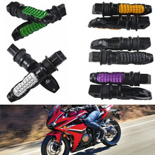 TDPRO New Foot Rests 8mm Hole Motobike Rear Foots Pegs Pedal Non-slip Footrest for Kawasaki Honda Suzuki Yamaha Most Motorcycle