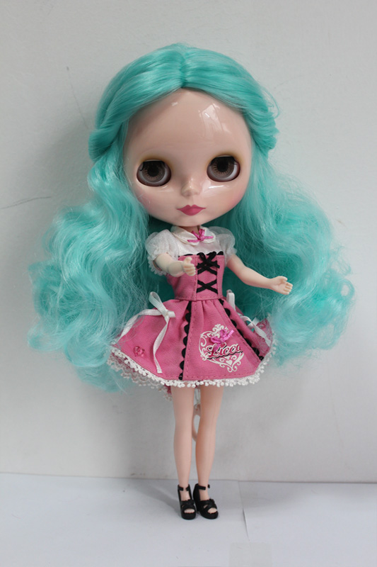 Free Shipping big discount RBL-142DIY Nude Blyth doll birthday gift for girl 4colour big eyes dolls with beautiful Hair cute toy big beautiful eyes косметический набор косметический набор big beautiful eyes