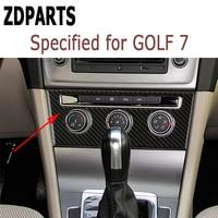 ZDPARTS Consle AC Switch Trim Stickers For Volkswagen VW Golf 7 GTI R GTE GTD MK7 2013 16 2017 LHD Accessories Carbon Fiber