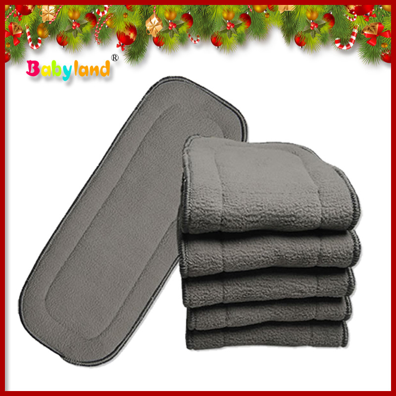 50 Pieces/Lot 5Layers Bamboo Charcoal Insert for Babyland Babyland cloth diaper