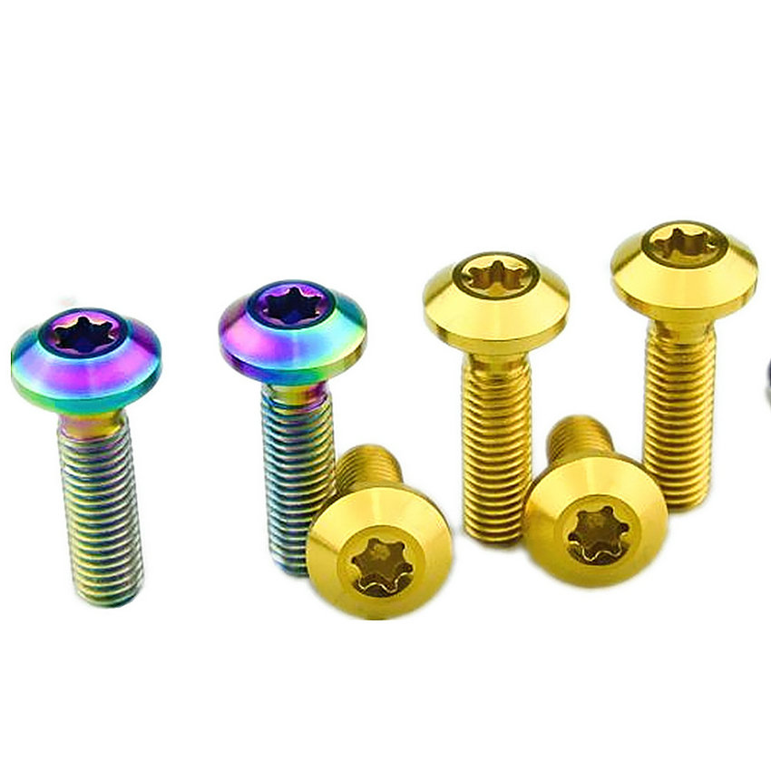 2/8 pcs Motorcycle Modification M8 x20/30mm Brake Disc DIY Ti Bolt Titanium Bolts Calipers Pan Torx Head Ti Screws Ti Fasteners цена