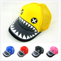 2016 Children's sun hat Baby Shark design peaked cap grid baseball hat camouflage cap  CP16323-8