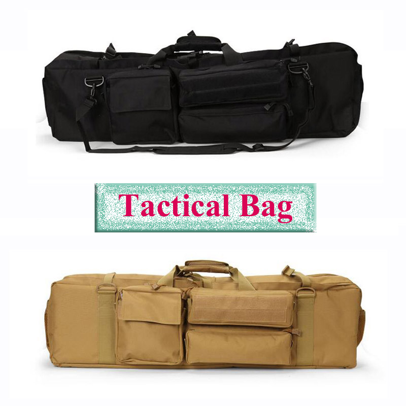 Hot Sale Tactical Bag Military Airsoft Carrying Protection Bag Rifle Case Gun Bag Hunting Hiking Camping Fishing Sport Bag 47 folding fishing rod bag tactical duel rifle gun carry bag with shoulder strap outdoor fishing hunting gear accessory bag