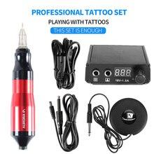 Professional Tattoo Rotary Pen Mini Kit Machine Pedal  Set Tattoos Supplies Accessories Hot Sale-B7