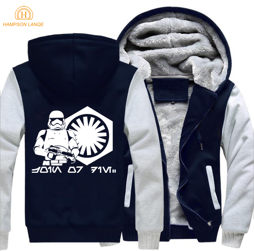 2019 Autumn Winter Thick Hoodies Star Wars Men Sweatshirts Casual Hip Hop Streetwear Brand Clothing Adult Warm Jackets M 5XL in Hoodies amp Sweatshirts from Men 39 s Clothing