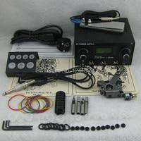 Complete Tattoo Kit Set Tattoo Gun Power Supply Needle Grip Tip Combo Kit Set Supply TKS110#