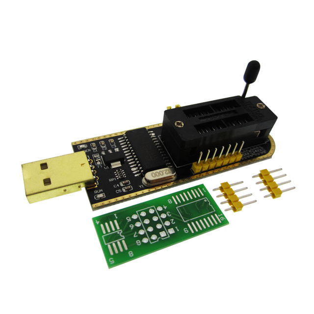 1pcs CH341A 24 25 Series EEPROM Flash BIOS USB Programmer with Software & Driver