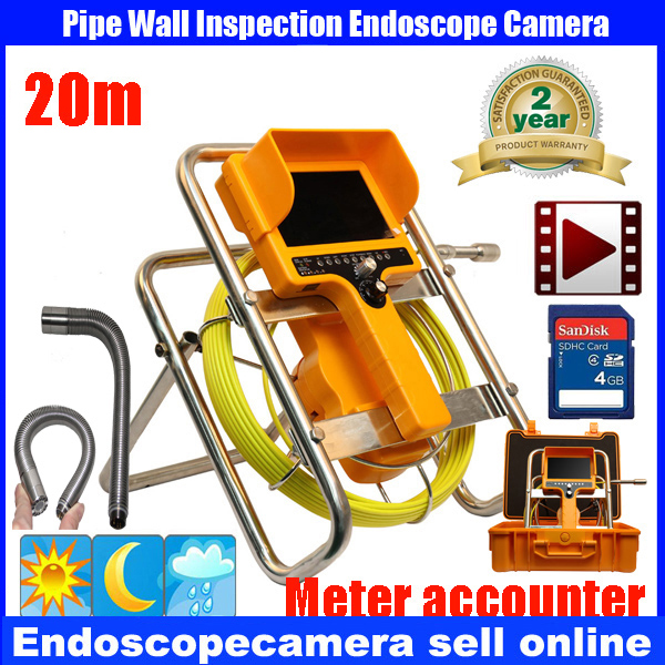 20m 90degree drain Endoscope Pipe Inspection Camera Pipeline Sewage Waterproof PlumbingDVR Camera 12Pcs White Lights Nightvision drain sewer wall cave pipe inspection dvr camera pipe endoscope borescope 20m 50m cable pipeline sewage snake camera