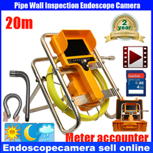 20m 90degree drain Endoscope Pipe Inspection Camera Pipeline Sewage Waterproof PlumbingDVR Camera 12Pcs White Lights Nightvision