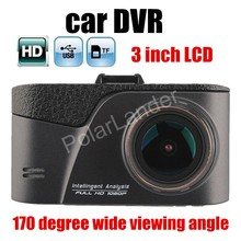 free shipping Car DVR HD 170 degree Wide viewing Angle Dash Cam dashcam auto Vehicle Camera Recorder camcorder 3 inch LCD