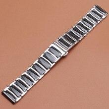 20mm 22mm En Céramique Bracelets solide liens bracelets De Montres Bracelets argent acier inoxydable butterfly boucle pour les engins S2 Vitesse S3 22