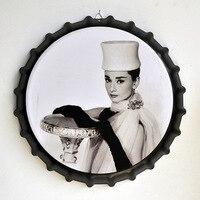 Tin Sign Hepburn Vintage Metal Painting Beer Cover Cafe Bar Hanging Ornaments Wallpaper Decor Plates Retro Mural