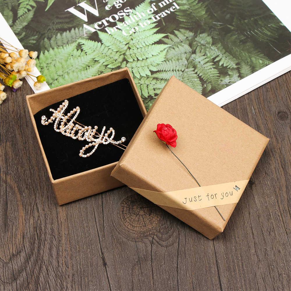 2019 New Mujer 1Pcs Small Kraft Paper Box Brown Cardboard Handmade Soap Box Craft Paper Gift Box Packaging Jewelry Box
