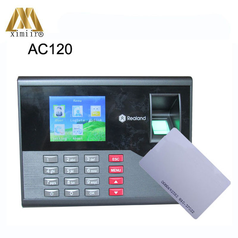Good Quality TCP/IP Communication A-C120 Fingerprint Time Attendance Fingerprint Password ID Card Attendance Time Clock Recorder