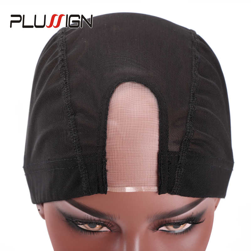 Tanda Tambah Hitam Mesh Topi Kubah Grosir 1PC Bernapas Tanpa Glueless Tanpa Merenggang Spandex Rambut Bersih Menenun Cap untuk Membuat Wig