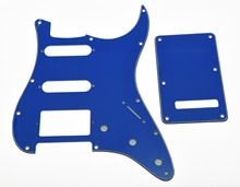 ST HSS Pickguard, Back Plate Cover w/ Screws Pure Blue 3 Ply