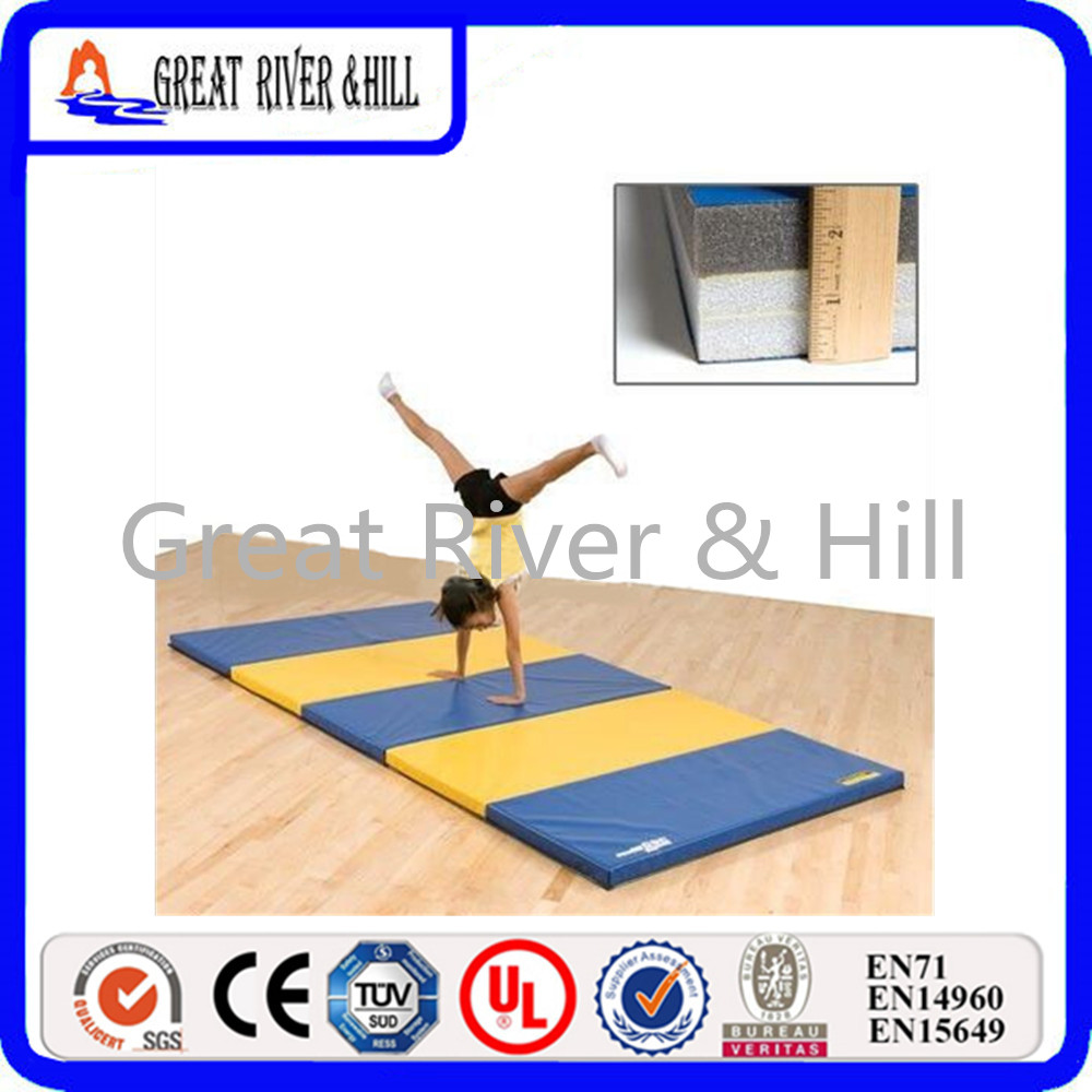 Great River Hill Folding Panel Gymnastics Mat Gym Exercise Mat For Outdoor with size 8ftx4ftx2inch gymnastics mat thick four folding panel fitness exercise 2 4mx1 2mx3cm