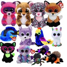 Ty Beanie Boos Big Eyes Owl Unicorn Cat Mouse Penguin Leopard Fox Dog Rabbit Giraffe Panda Monkey Stuffed Animals Plush Toys(China)