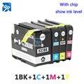 4 Совместимый Картридж для HP932 HP 932 XL 933 XL HP Officejet Pro 6100 6600 6700 7110 7610 7612 Принтера шоу чернил уровень
