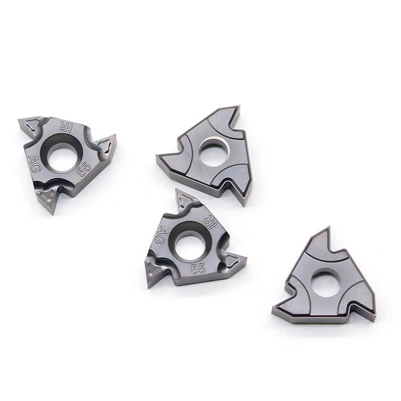 Купить с кэшбэком 16ER AG55 11IR A55 16IR AG55 A55 G55 IC908 55 angle Original Thread turning tools Tungsten Carbide Inserts Threading Lathe Tool
