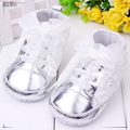 0-2 year old girl first walk shoe 4 color shiny surface 11-13 cm baby girl shoes chaussure bebe fille 381