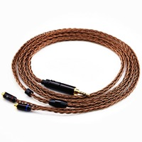 New Arrival LZ 2 5mm Balanced Cable 8 Core 6N Upgreded Single Crystal Copper Earphone Cable