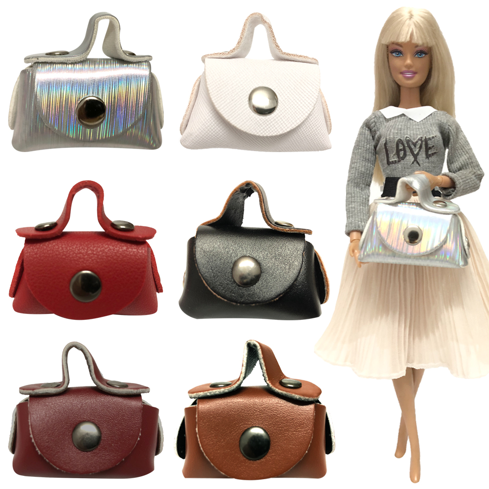 NK Mix Style One Pcs Girl's Doll Mini Handmade Casual Wear Bag Red Fashion Cute Bag For Barbie Doll Accessories X00A JJ 6X