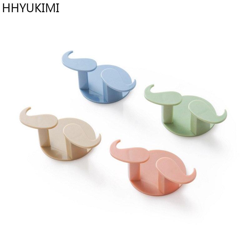 Hhyukimi 2 предмета клей борода Форма крюк для хранения вилка висит держатель Кухня Ванная комната ключ ювелирные изделия SUNDRY организовать липк...
