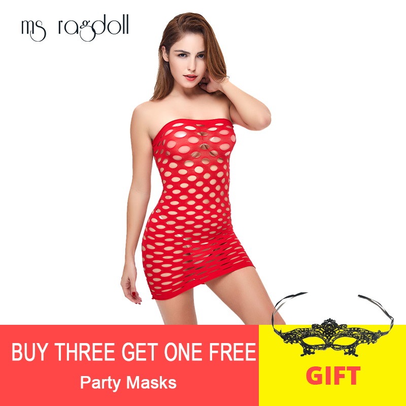 Fishnet <font><b>Underwear</b></font> Elasticity Cotton Lenceria <font><b>Sexy</b></font> <font><b>Lingerie</b></font> Hot Mesh Baby Doll Dress <font><b>Erotic</b></font> <font><b>Lingerie</b></font> For <font><b>Women</b></font> Sex Costumes image