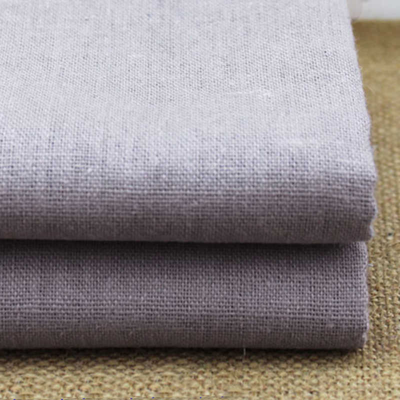 100cm*140cm cotton linen fabric for pants trousers solid gray linen material