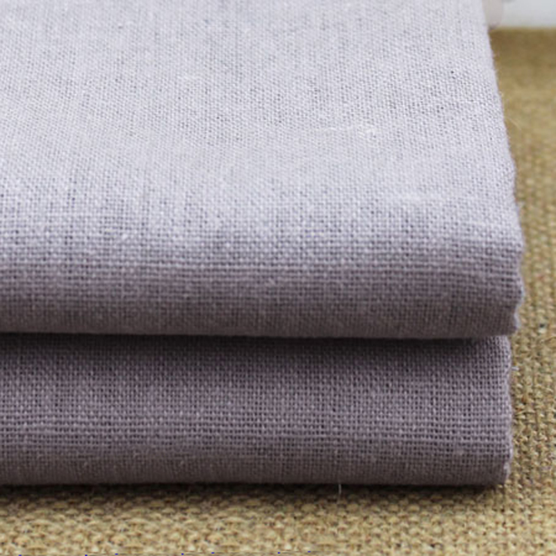 Sold by meter cotton linen fabric for pants trousers solid for Sofa 4 meter