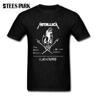 Slim Fit T Shirt Metallica Hard Metal Rock Band Men O Neck Tee Shirt Hip Hop