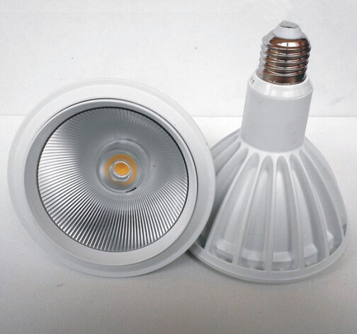 Free Shipping High quality PAR38 20W/15W E27 Warm White/White/Cold White Dimmable COB LED Spot Lamp light White/Black shell high quality ac 360 415v 16a ie 0140 4p e free hanging industrial plug red white