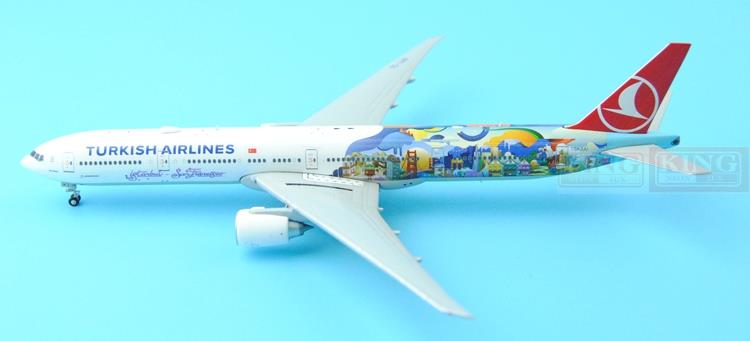 Spike: Wings XX4502 JC Turkey Airlines B777-300ER San Francisco 1:400 commercial jetliners plane model hobby special offer wings xx4232 jc korean air hl7630 1 400 b747 8i commercial jetliners plane model hobby