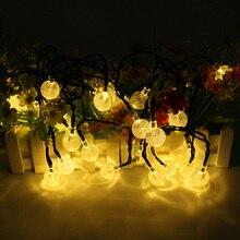 6 м 30 светодиодов хрустальный шар Солнечный свет строка праздник света Водонепроницаемый для наружного, сады, свадьбы, танцы, для рождественской вечеринки