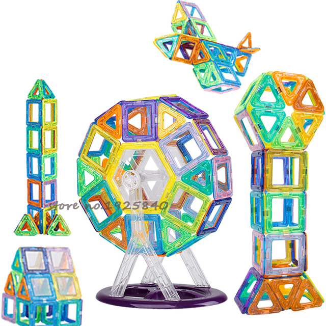 Mini 30pcs 50pcs 60pcs Educational Toys For Children 3D Construction Building Blocks Models Assembly Kits Magnetic Designer Toys