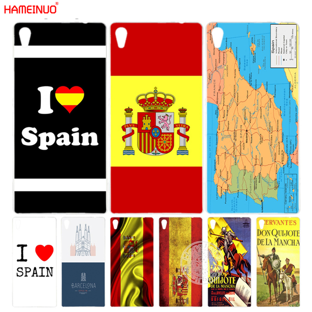 Spain Map Flag.Us 1 93 34 Off Hameinuo Spain Love Map Flag Don Quixote Cover Phone Case For Sony Xperia Z2 Z3 Z4 Z5 Mini Plus Aqua M4 M5 E4 E5 C4 C5 In