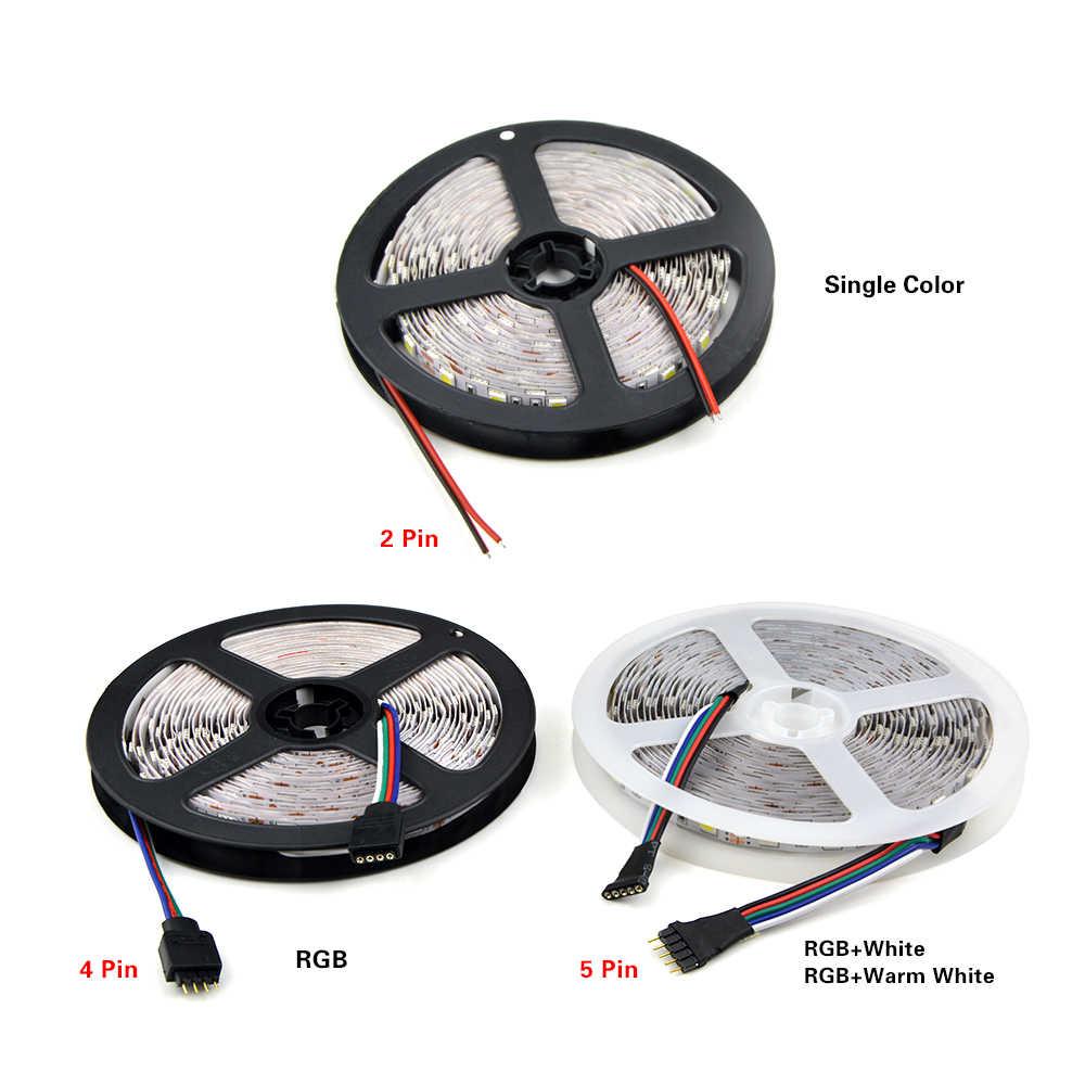 1 roll 5 m 5050 led 스트립 빛 방수 dc 12 v rgbw rgbww rgb led 다이오드 테이프 휴일 장식 램프 led 문자열 리본 60 leds/m