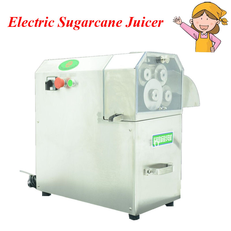 Professional Sugarcane Juicer Stainless Steel Electric Sugarcane Juicer Machine with 3 or 4 Rollers Automatic Pulp Ejection