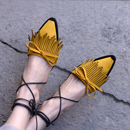 Tyawkiho Genuine Leather Women Sandals Pointed Toe Summer Shoes Lace Up Rome Fashion Women Leather Sandal Low Heel Handmade Shoe pointed toe flats women 2017 summer shoes gladiator flats cross tied sandals lace up low heel to wear woman close toe