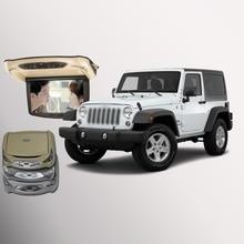 Bigbigroad для Jeep Wrangler крыше автомобиля установлен в автомобиль светодиодный цифровой Экран Поддержка HDMI USB FM ТВ игры ИК удаленного флип Подпушка Мониторы