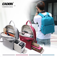 CADEN Backpacks Camera Bags Soft Shoulders Gray Blue Red Bag Men Women Digital Camera Backpack For Canon Nikon DSLR L5