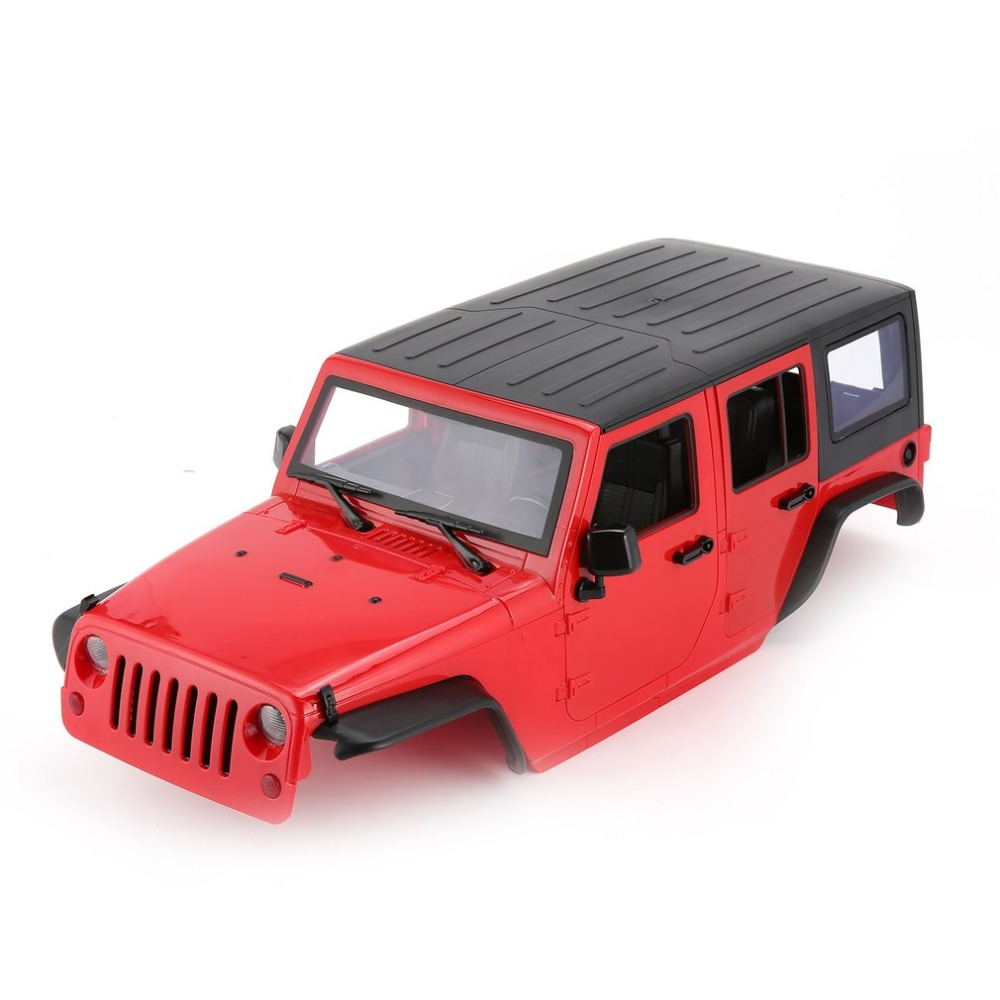 Hard Plastic Car Shell Body DIY Kit for 313mm Wheelbase 1/10 Wrangler Jeep  Axial SCX10 RC Car Crawler Vehicle Model