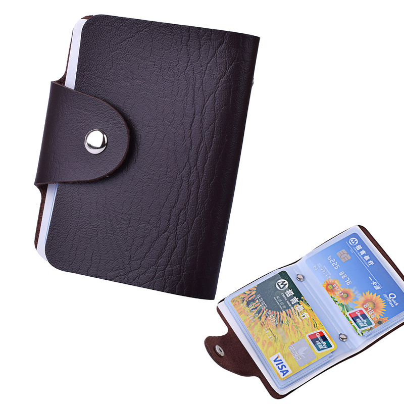Klsyanyo Fashion PU Hasp 24 Card Holder Women&Men's Bank Credit Card Holder Wallet Business ID Holders Organizer Card 2018 pu leather unisex business card holder wallet bank credit card case id holders women cardholder porte carte card case