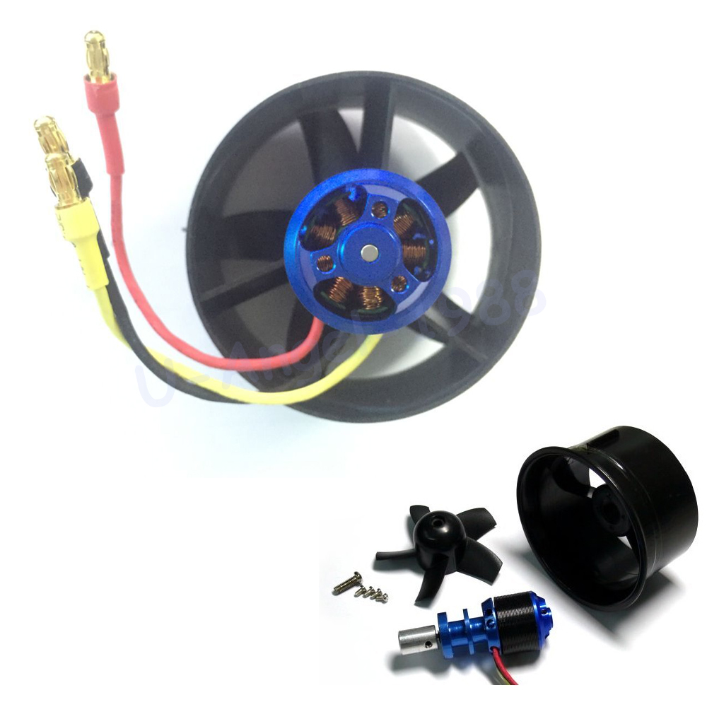 64mm Duct Fan + 4500KV Brushless Motor for lipo RC Jet +Free shipping 64mm duct fan 4800kv brushless motor
