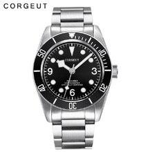 Corgeut Элитный бренд, механические часы Schwarz Bay автоматические военные спортивные часы для плаванья механические часы, кожа мужчины 02