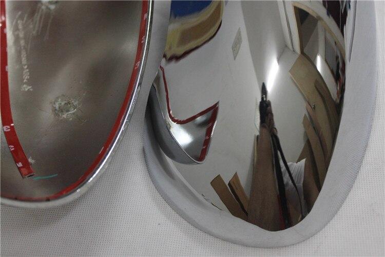 ABS Chrome Rétroviseur Côté Rétroviseurs extérieurs Garniture de Couverture de 2 pièces pour Nissan Qashqai 2007 2008 2009 2010 2011 2012 2013 ABS chromé - 4