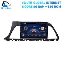 4G Lte Android 9.0 Car multimedia navigation system GPS DVD player For Hyundai sonata 9 gernation IPS screen Radio stereo